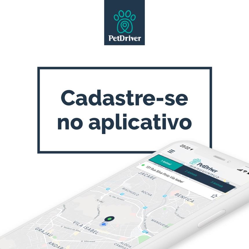 Como criar minha conta no aplicativo da PetDriver?
