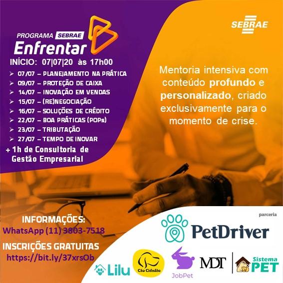 A PetDriver & Parceiras se uniram ao Sebrae para essa parceria mais que especial