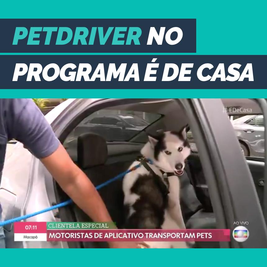 PetDriver é destaque no programa É de Casa, da Rede Globo