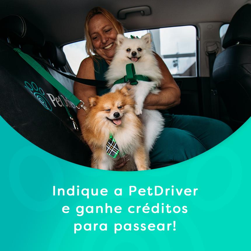 Ganhe bônus em suas corridas indicando a PetDriver para os amigos