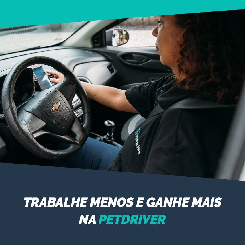 Ganhe mais trabalhando como motorista na PetDriver