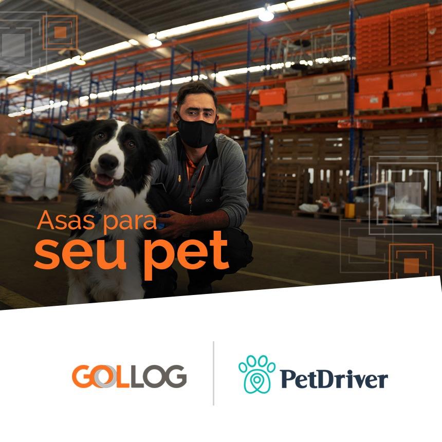 GOLLOG Animais & PetDriver levarão o seu pet e você às alturas com até 40% de desconto