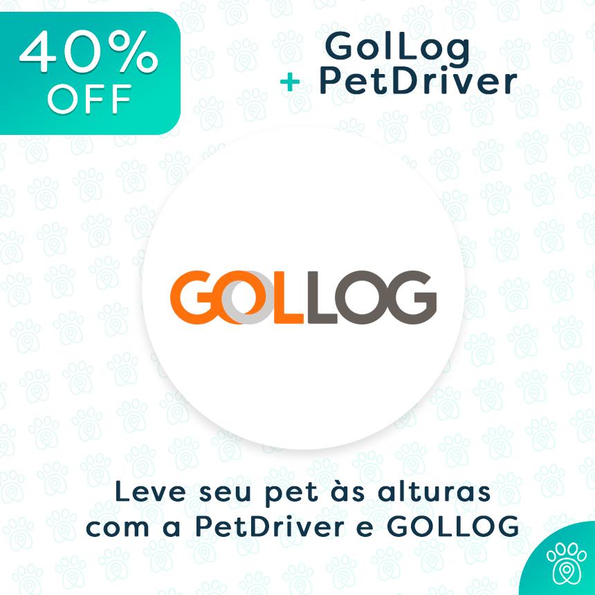 Transporte animais de todos os tamanhos com até 40%off na GOLLOG e na PetDriver