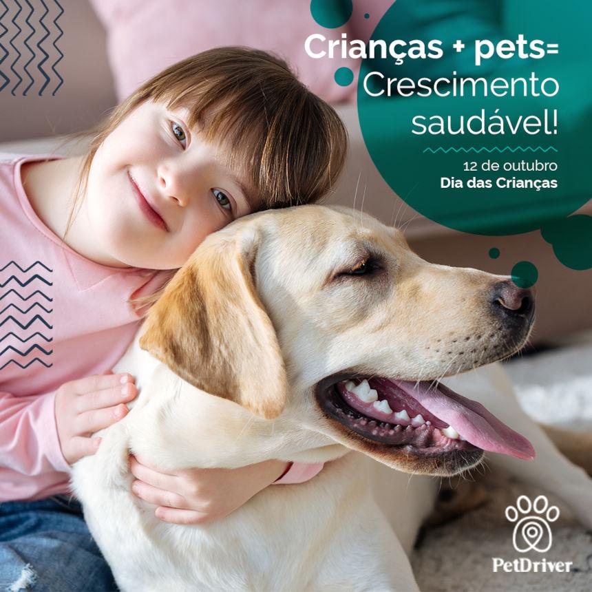 Crianças + Pets = Crescimento saudável!